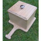 Graveside soil & petal box (Light Oak).