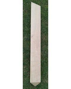 Single Post with angled top and bottom.