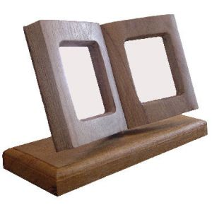 Deluxe Book Style Picture Frame on Stand - small single book