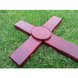 Deluxe ashes marker cross (Mahogany colour) Style No.2